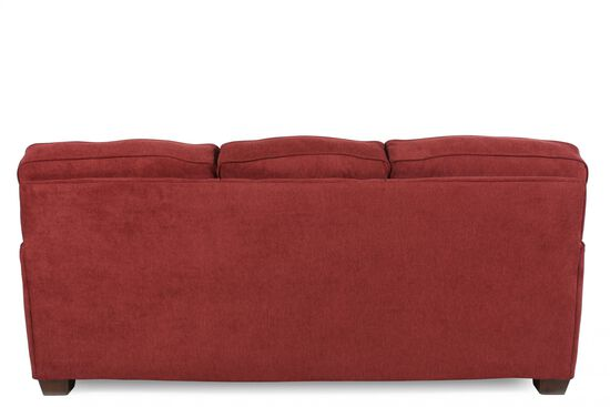 """I-Rest Casual 82"""" Queen Sleeper Sofa in Red Berry"""