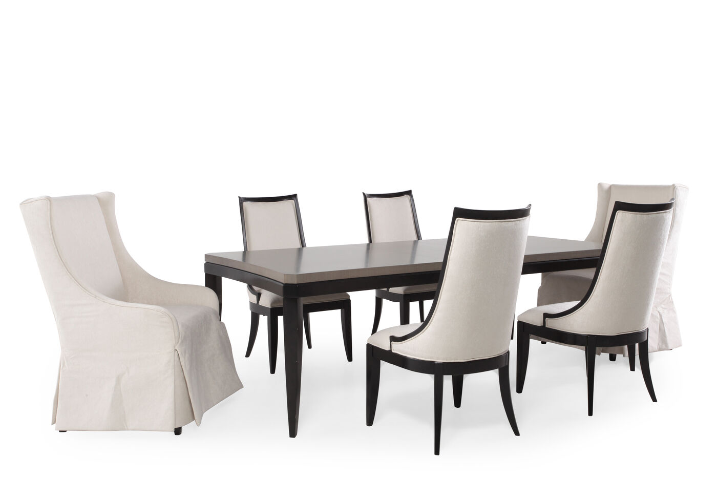 Seven Piece Transitional 743939 Dining Set In Light