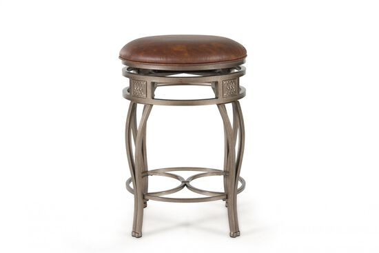 "Traditional 26"" Swivel Bar Stool in Old Steel"