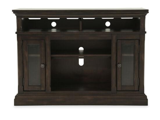 Two-Door Casual TV Stand in Dark Brown