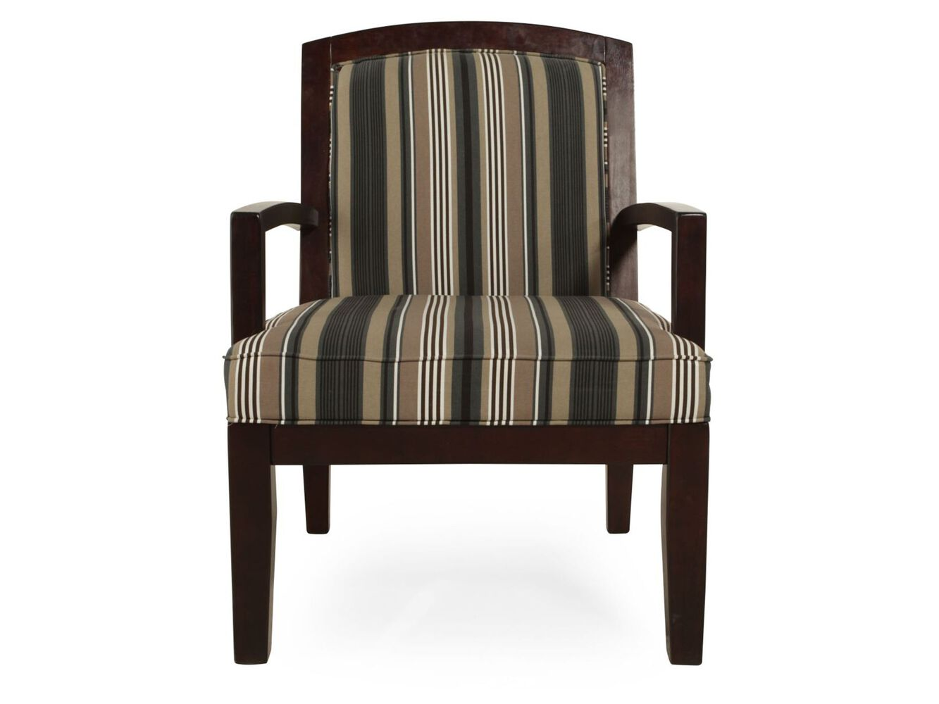 Striped Contemporary 28 Quot Accent Chair Mathis Brothers