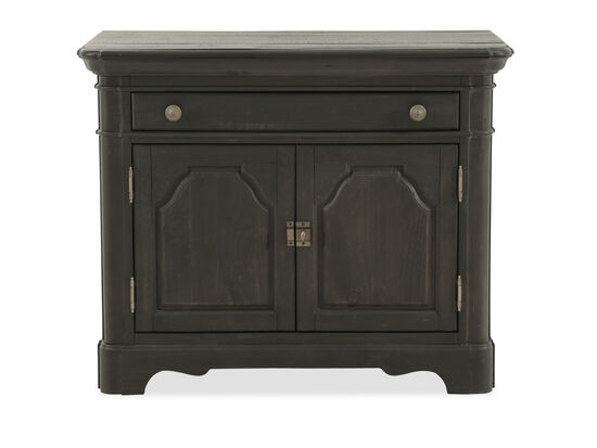 "29.5"" Traditional Two-Door Bachelor's Chest in Anvil Black"