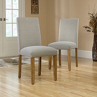 MB Home Canary Lane Parsons Gray Pair of Dining Chairs