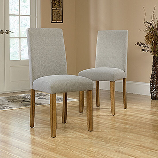 Two-Piece Solid Wood 38'' Dining Chair Set in Gray
