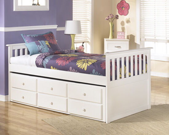 Casual Youth Twin Trundle Frame in White | Mathis Brothers Furniture