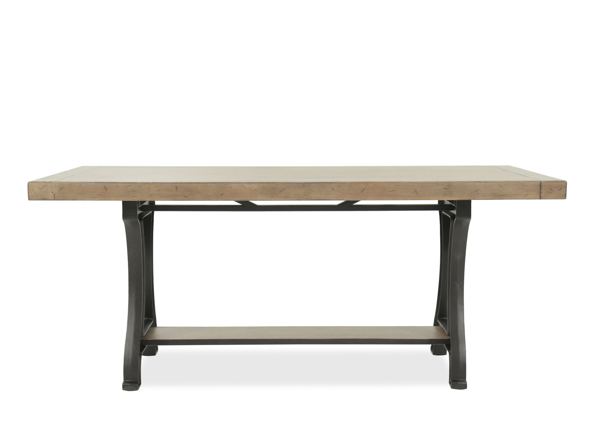 Images Transitional 42u0026quot; Rectangular Pedestal Table In Aged ...