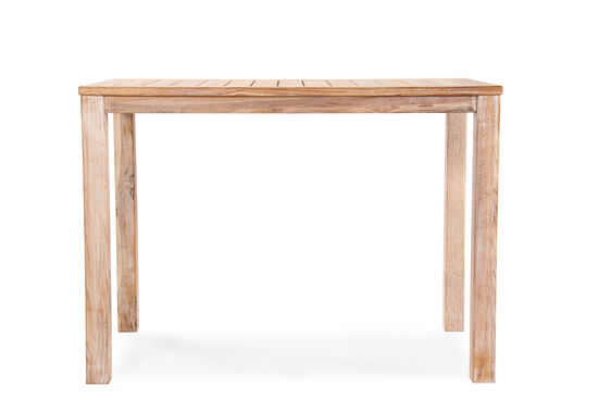 Casual Planked Top Rectangular Bar Table in Light Brown