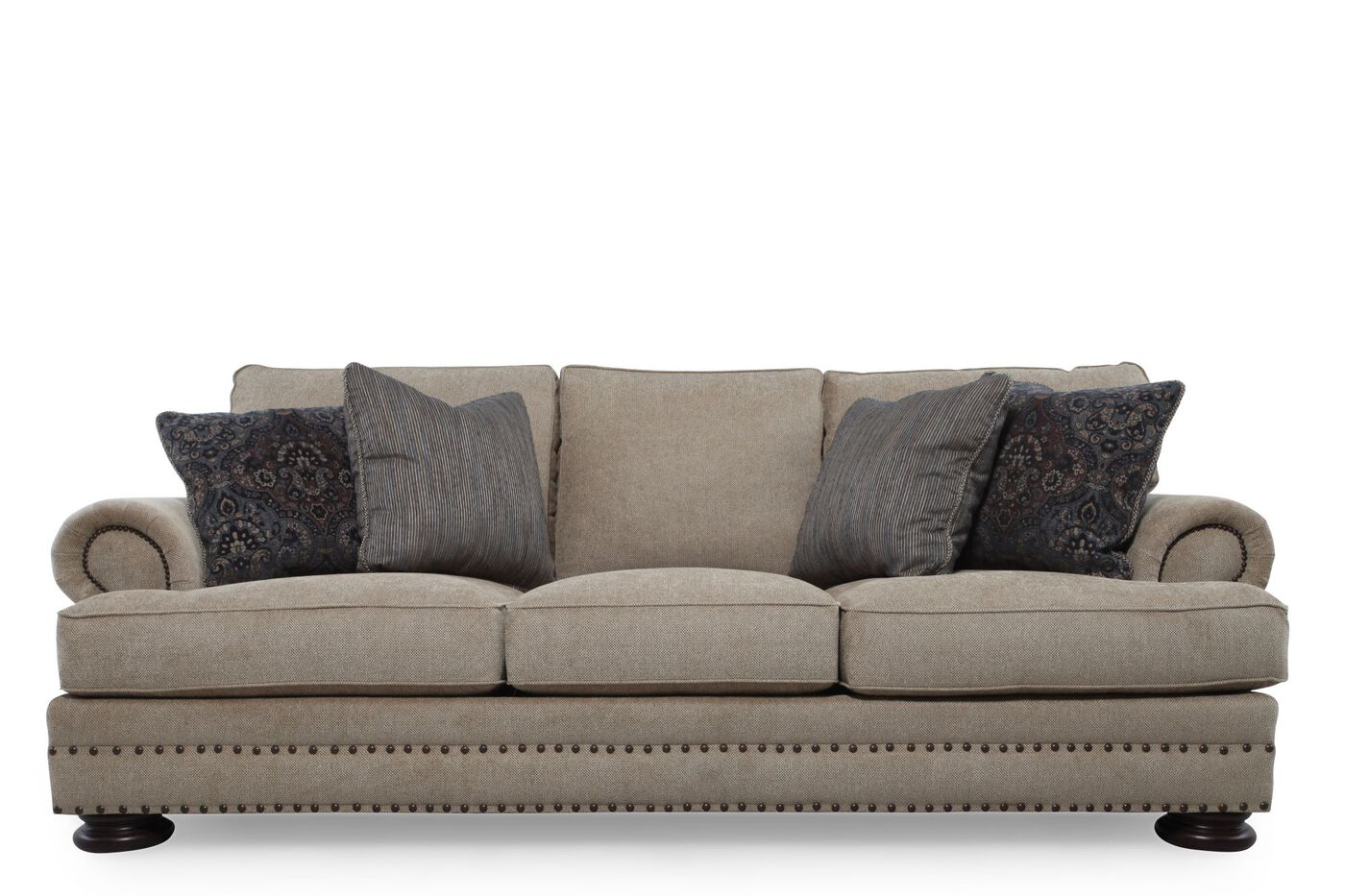 Bernhardt foster brown sofa mathis brothers furniture Bernhardt living room furniture
