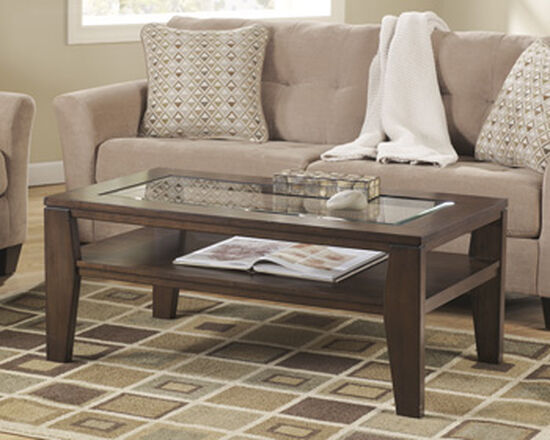 Rectangular Contemporary Cocktail Table in Dark Brown