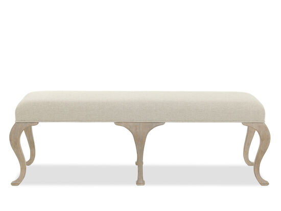 "Traditional 56"" Bench in Beige"