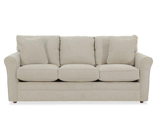 "Casual 82"" Queen Sleeper Sofa in Beige"
