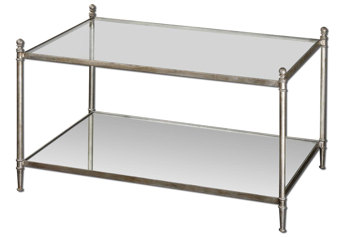 Uttermost gannon mirrored glass coffee table mathis brothers uttermost gannon mirrored glass coffee table geotapseo Images
