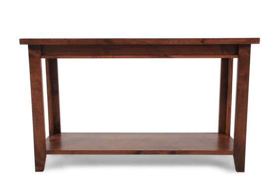 Open Shelf Casual Sofa Table in Brown
