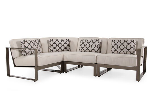 Four-Piece Aluminum Sectional in Cream
