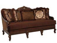 """Leaf-Carved Velvet 80"""" Sofa in Plum"""