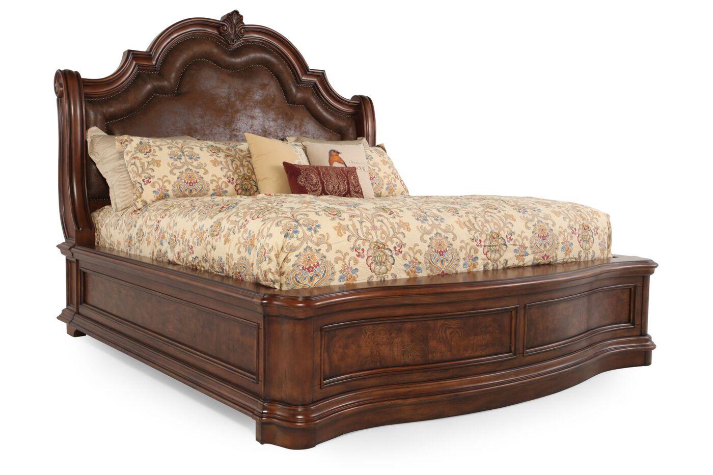 Pulaski San Mateo Sleigh Bed  Pulaski San Mateo Sleigh Bed   Mathis Brothers Furniture. San Mateo Bedroom Set Pulaski Furniture. Home Design Ideas