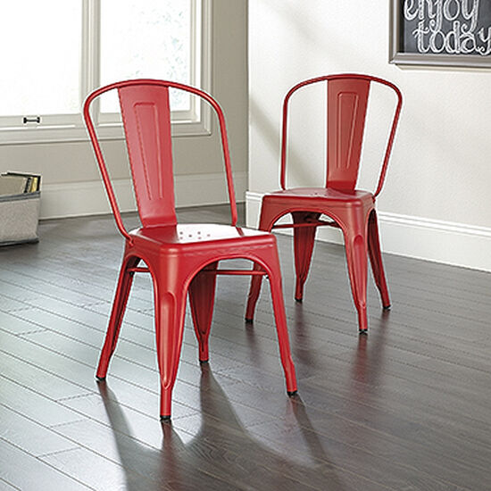 Two-Piece Contemporary 33.5'' Café Chair Set in Matte Red