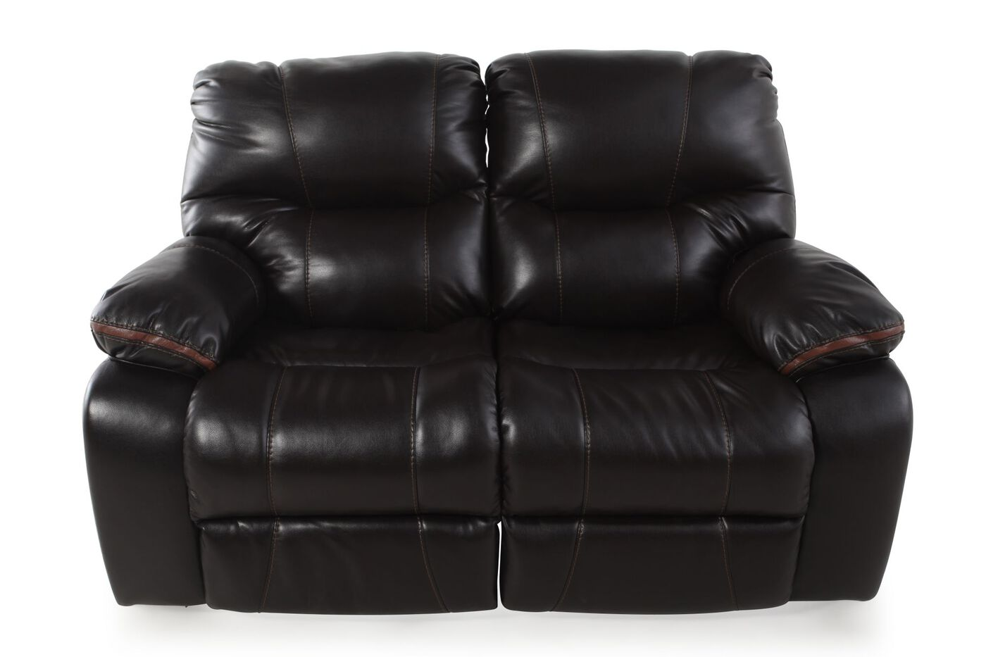 Double Reclining Contemporary 64 Quot Loveseat In Dark Brown