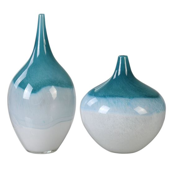 Two-Piece Shapely Vases