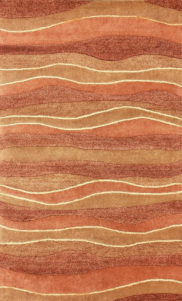 Lb Hand Tufted Wool Rust Gold Rug Mathis Brothers Furniture