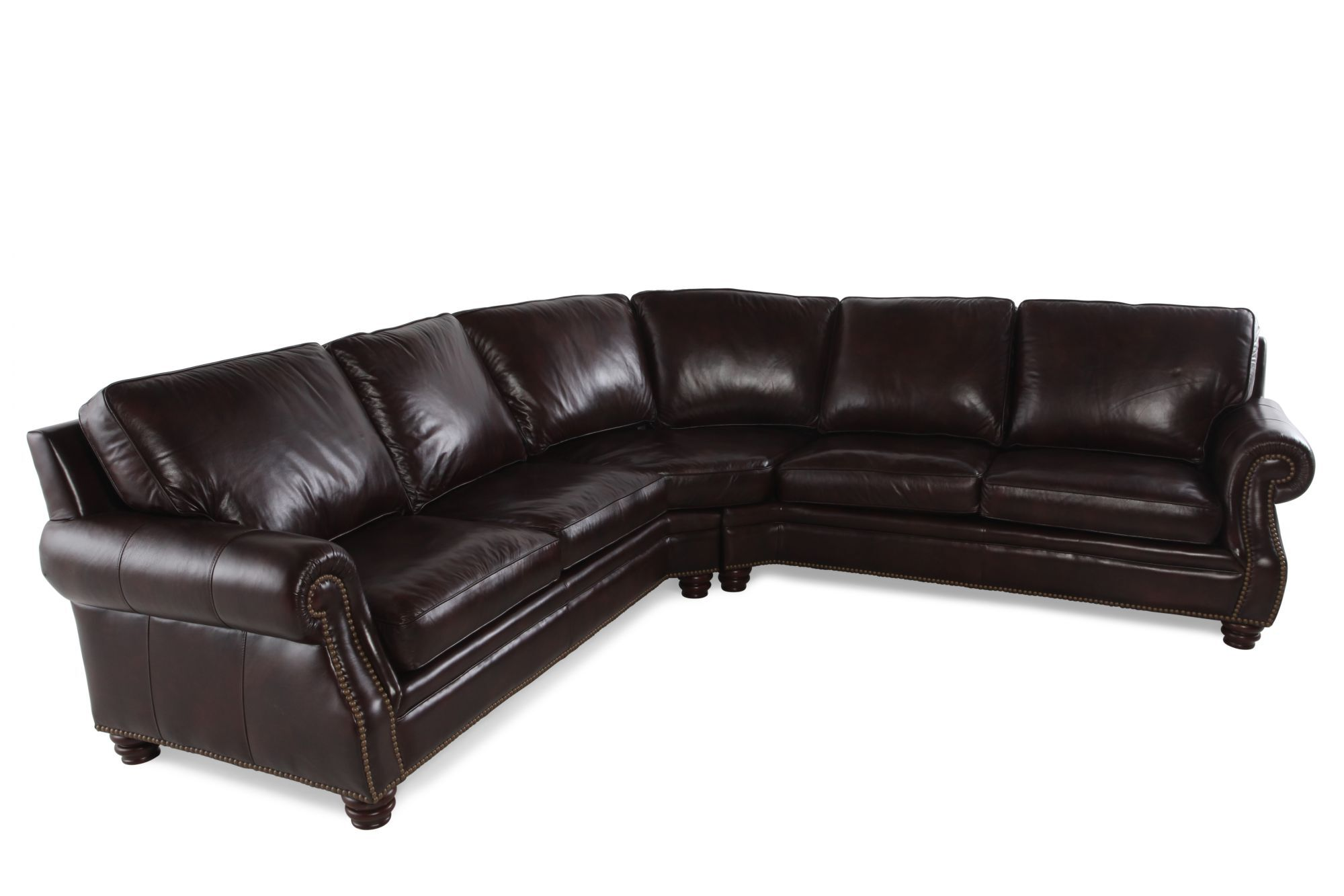 Henredon Two-Piece Leather Sectional  sc 1 st  Mathis Brothers : mathis brothers sectional sofas - Sectionals, Sofas & Couches