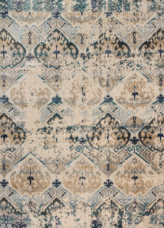 """Contemporary 1'-6""""x1'-6"""" Square Rug in Sand/Ocean"""