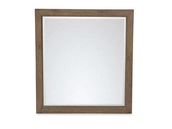 Casual Youth Landscape Mirror in Light Brown