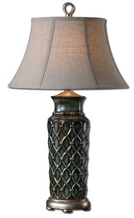 Bell Shade Table Lamp in Blue