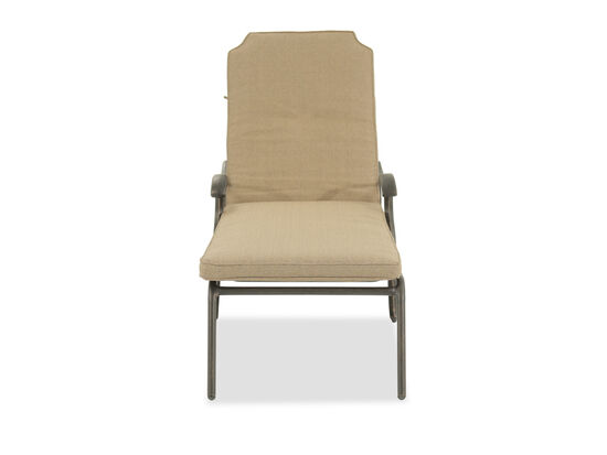 Casual Patio Chaise in Beige