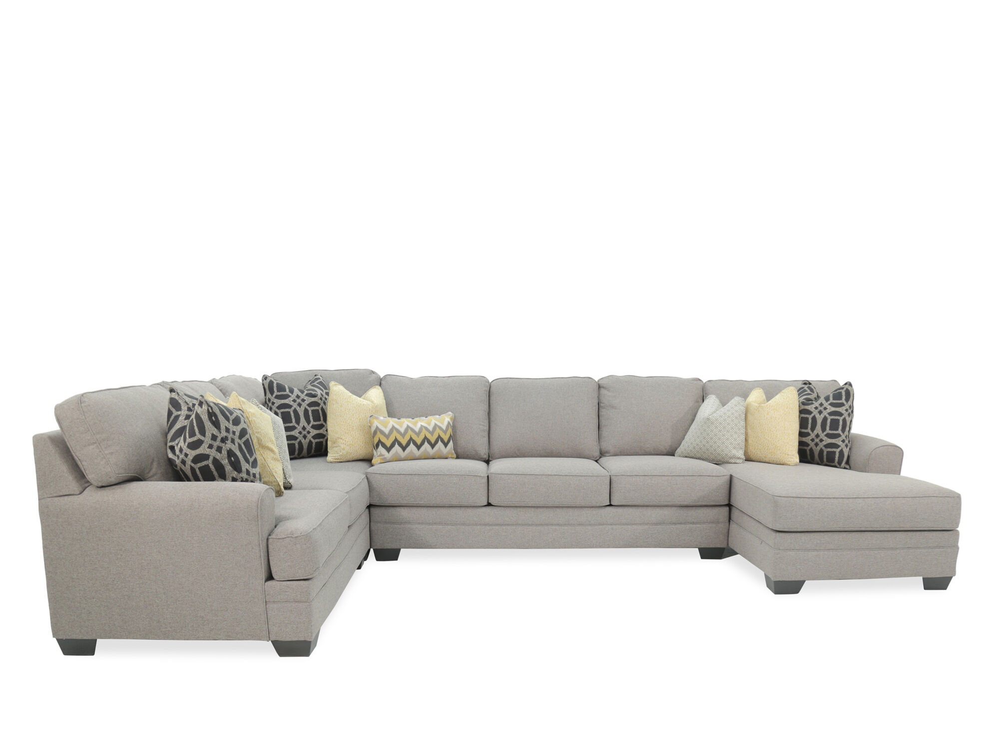 ashley cresson pewter fourpiece sectional