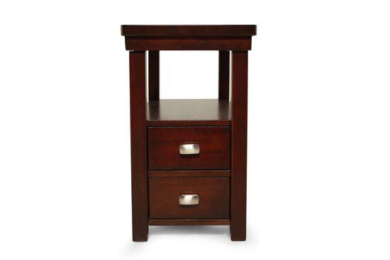 Rectangular Contemporary Chairside Tablein Espresso