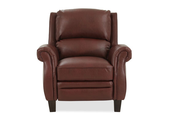 "Leather 36"" Push Back Recliner in Brown"