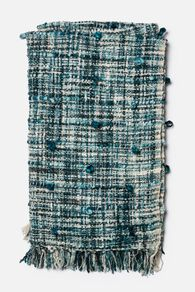 Handmade Contemporary Textured Throw in Blue