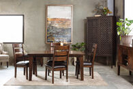 """Ashley 65"""" Contemporary Dining Table in Burnished Dark Brown"""