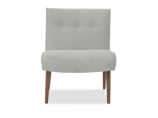 "Button-Tufted Mid-Century Modern 25"" Chair in Gray"