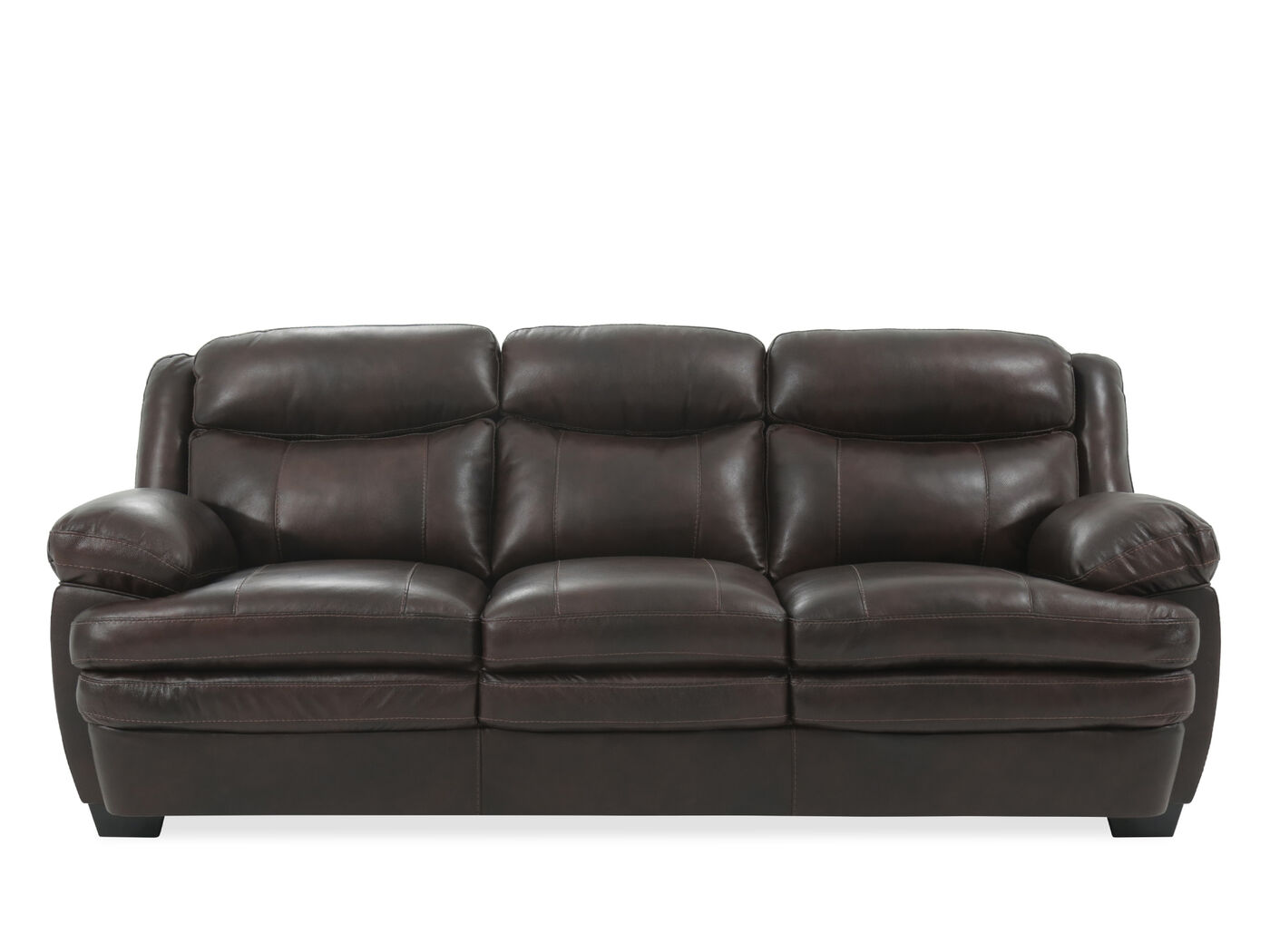 Contemporary 90 Leather Sofa In Brown Mathis Brothers Furniture ~ Leather Sofa Contemporary