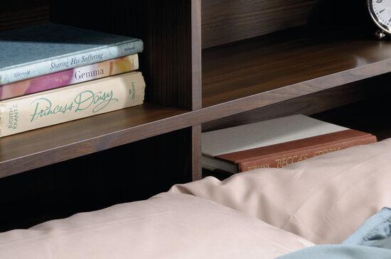 "Traditional 47"" Full/Queen Bookcase Headboardin Rum Walnut"