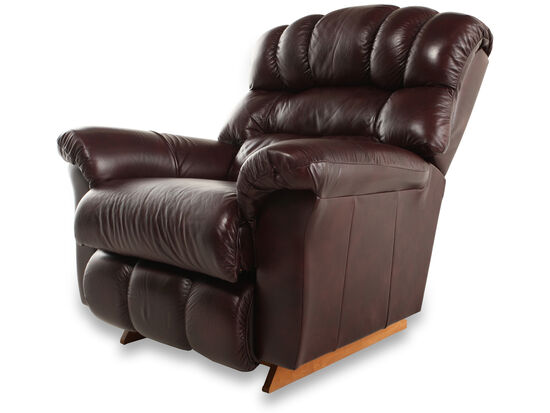 "Casual Leather 46"" Recliner in Bordeaux"