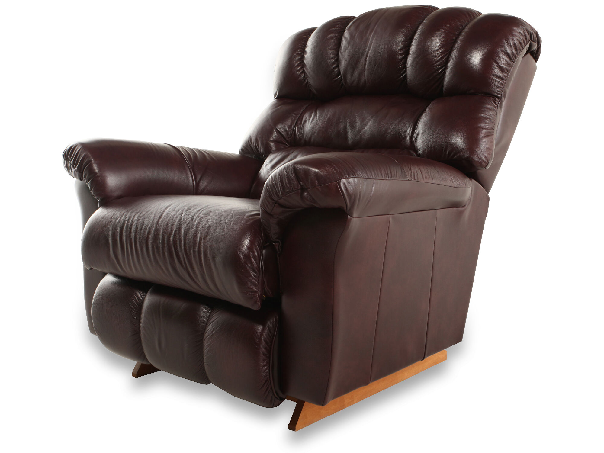 La-Z-Boy Crandell Bordeaux Leather Recliner  sc 1 st  Mathis Brothers : lazy boy crandell recliner - islam-shia.org