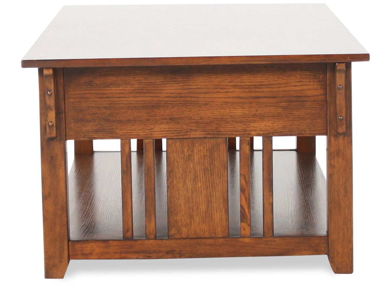 Weathered Solid Wood Cocktail Table In Dark Oak Mathis Brothers Furniture