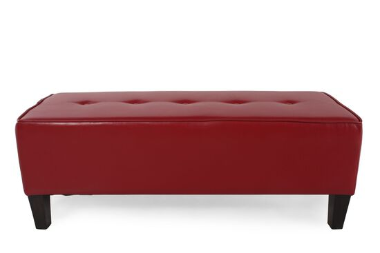 Ashley Sinko Scarlett Red Ottoman