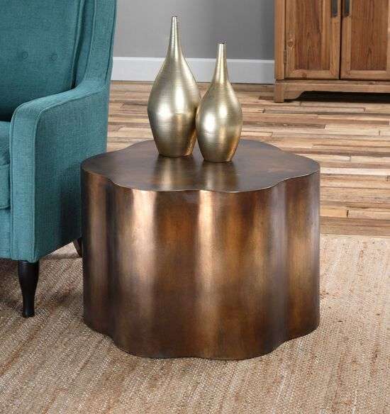 Uttermost Sameya Oxidized Copper Accent Table