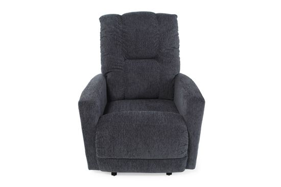 """Contemporary 33"""" Wall Recliner in Navy Blue"""