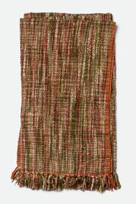 Hand Woven Contemporary Textured Throw in Red