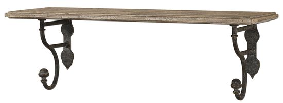Distressed Shelf in Aged Olive Bronze