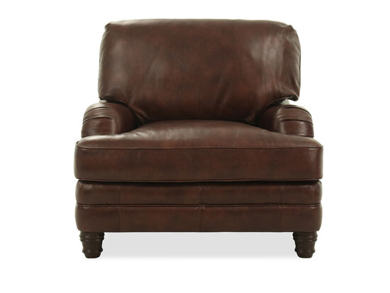 "Casual Leather 40.5"" Chair in Brown"