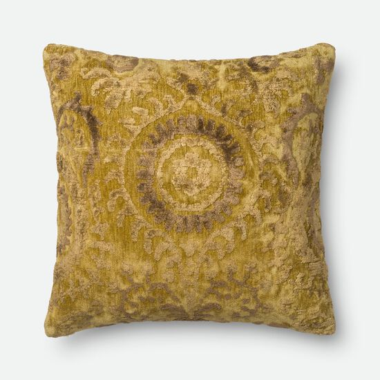 """Contemporary 22""""x22"""" Cover w/Down Pillow in Lt. Green"""