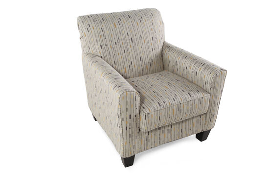 """Patterned Contemporary 35"""" Accent Chair"""