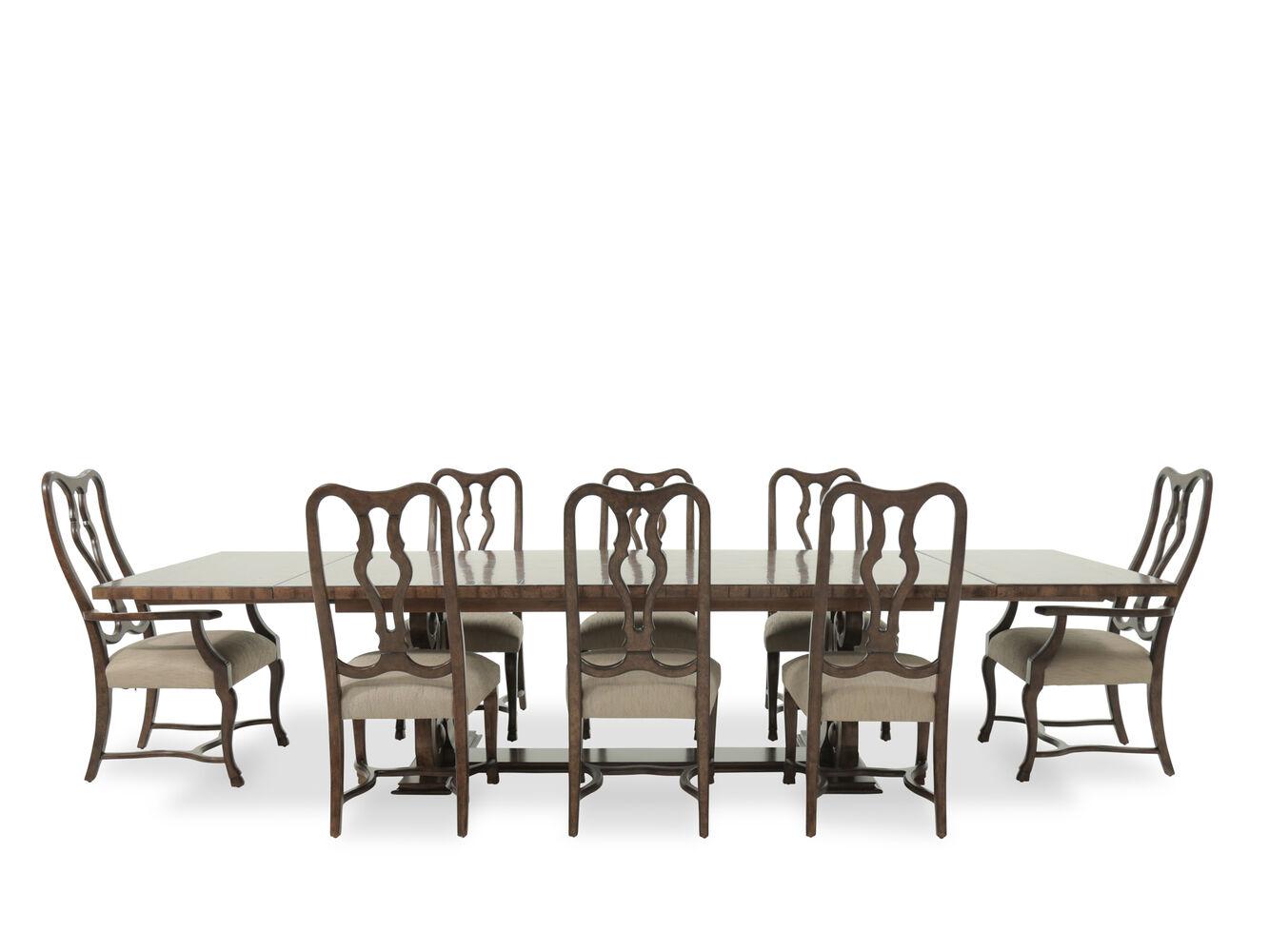 Nine Piece Traditional 603939 Dining Set In Dark