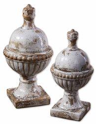 Uttermost Sini Ceramic Finials, Set/2